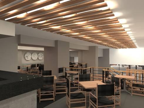 Sushi Itto Escobedo: Restaurantes de estilo  por Arq. Jacobo Smeke