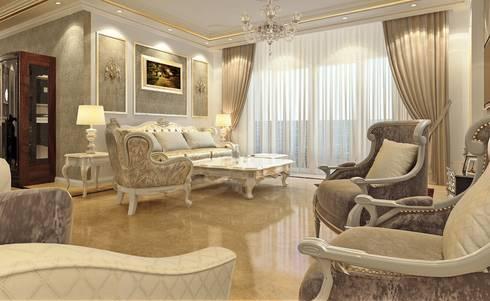 Classic reception:  غرفة المعيشة تنفيذ Boly Designs