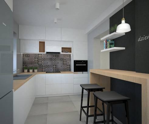 Scandinavian kitchen: styl , w kategorii  zaprojektowany przez Arch/tecture