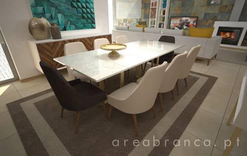 Sala de Jantar: Salas de jantar modernas por Areabranca