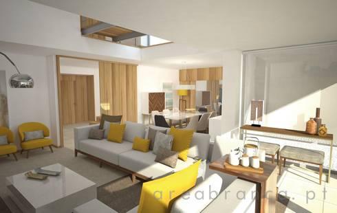 Sala de Estar : Salas de estar modernas por Areabranca