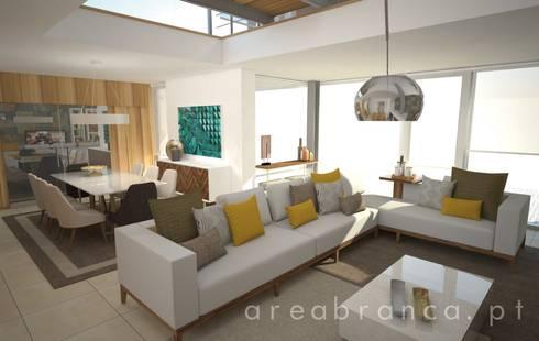 Sala de Estar: Salas de jantar modernas por Areabranca
