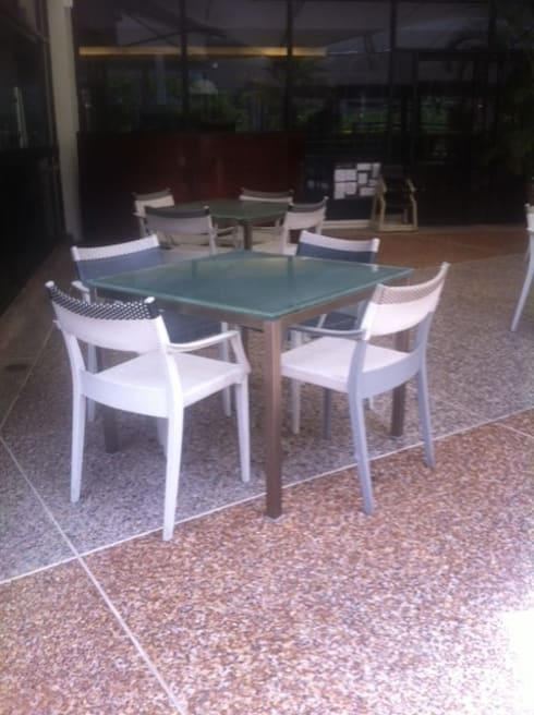 Proyecto Hotel: Terrazas de estilo  por THE muebles