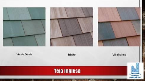 """TEJAS PLANAS """"INGLESA"""": Casas de estilo moderno por ENFOQUE CONSTRUCTIVO"""