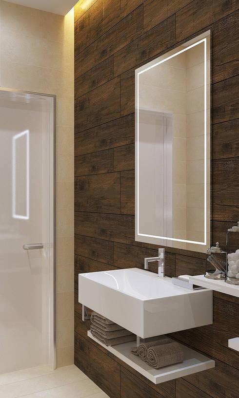 Туалет: Ванные комнаты в . Автор – Бюро9 - Екатерина Ялалтынова