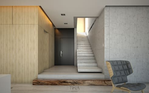 Foyer: Pasillos y recibidores de estilo  por TW/A Architectural Group