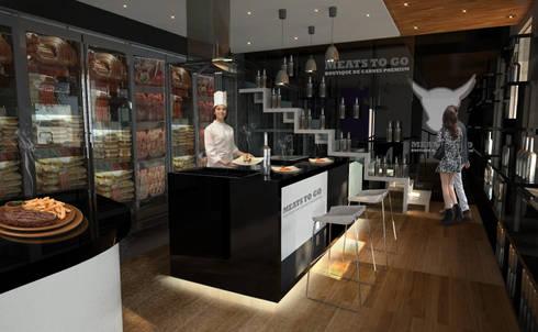 Boutique de Carnes: Espacios comerciales de estilo  por Arquitectos M253