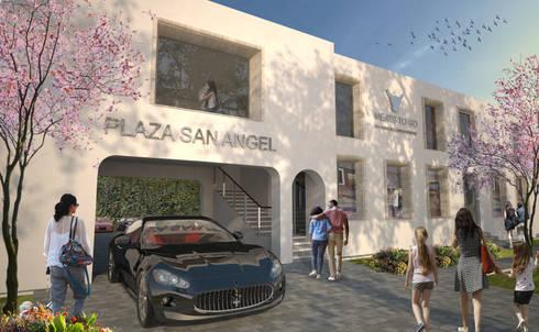 Fachada: Espacios comerciales de estilo  por Arquitectos M253