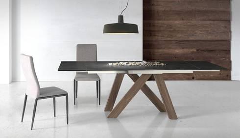 Mesas de refeições e cadeiras modernas Dining tables and modern chairs www.intense-mobiliario.com   EERT I: Sala de jantar  por Intense mobiliário e interiores;