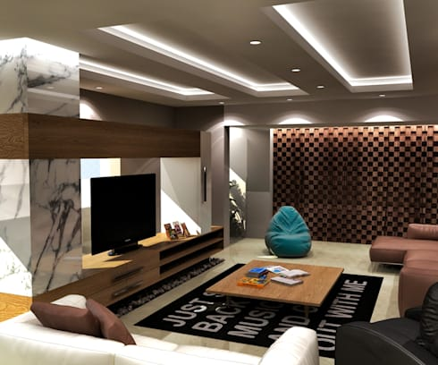 modern Living room by THE Studio