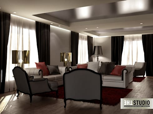 minimalistic Living room by THE Studio