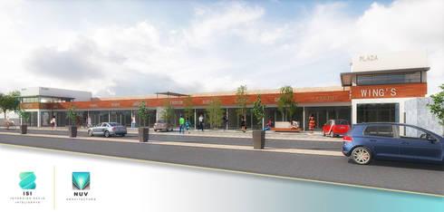 Plaza Comercial:  de estilo  por NUV Arquitectura