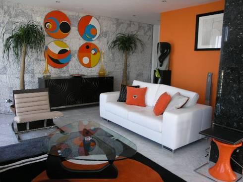 Apartamento Praia da Falésia -Penthouse 2004: Salas de estar modernas por Atelier  Ana Leonor Rocha