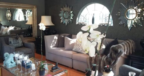 Grey House: eclectic Living room by CKW Lifestyle