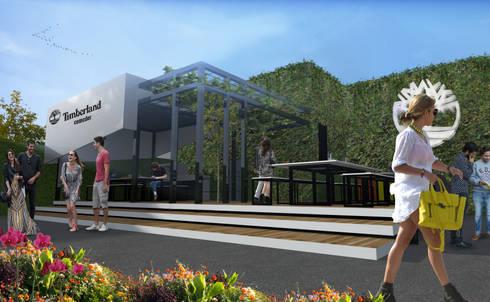 Desarrollo Arquitectónico: Terrazas de estilo  por Arquitectos M253