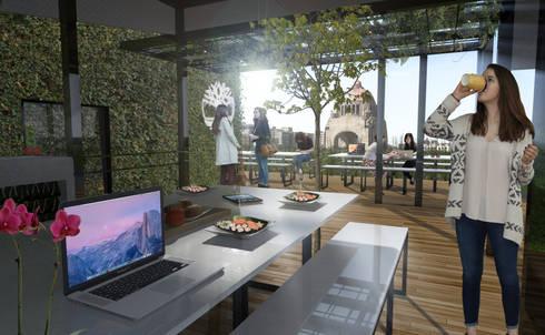 Interiores y exteriores : Terrazas de estilo  por Arquitectos M253