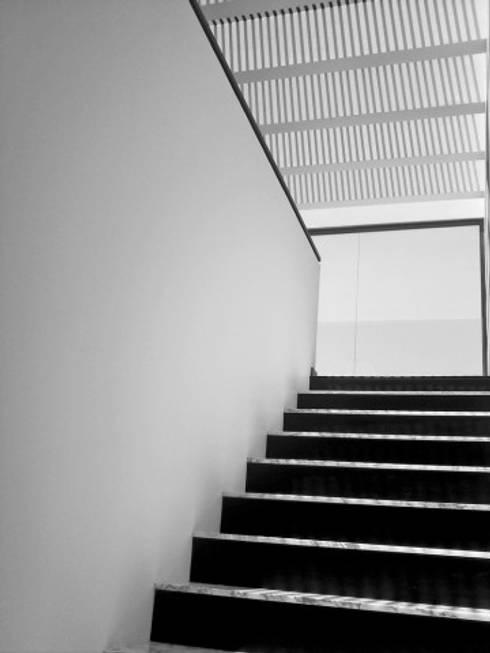 Otawa: Pasillos y recibidores de estilo  por [GM+] Arquitectos