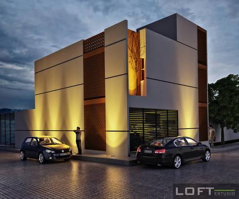 Casa Beth Fachada Exterior: Casas de estilo moderno por LOFT ESTUDIO arquitectura y diseño