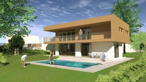 split level haus pasching von adlhart architekten homify. Black Bedroom Furniture Sets. Home Design Ideas