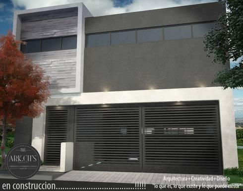 RENDER FACHADA :  de estilo  por The arkch's Arquitectos