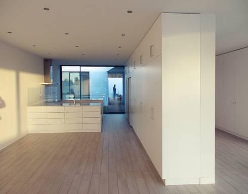 Salas de jantar modernas por Utopia - Arquitectura e Enhenharia Lda