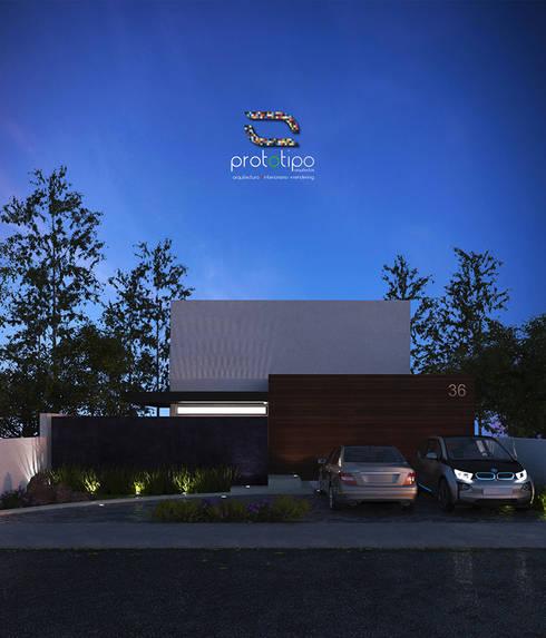 Casa 36  El Cielo: Casas de estilo moderno por Prototipo Arquitectos