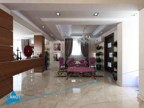 Ground Floor:  غرفة المعيشة تنفيذ triangle