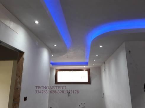 Veletta in cartongesso Moderna Milano Monza illuminata con LED. by ...