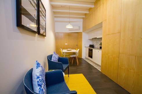 Casa dos Mercantéis: Salas de estar modernas por GRAU.ZERO Arquitectura