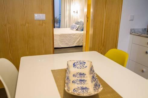 Casa dos Mercantéis: Salas de jantar ecléticas por GRAU.ZERO Arquitectura