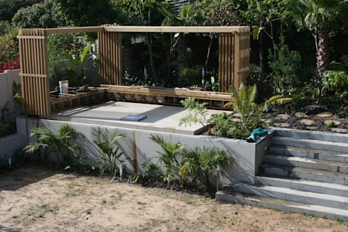 Amara Bakoven: BEFORE Lawns & Wooden Pagola:   by Urban Landscape Solutions
