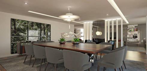Salas de jantar modernas por OGO ARQUITECTOS