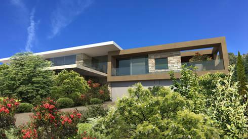 Maisons et villas modernes par les architectes d 39 a2 sb par for Architecte villa contemporaine