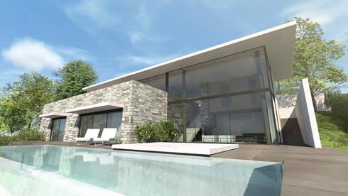 maisons et villas modernes par les architectes d 39 a2 sb par arrivetz belle homify. Black Bedroom Furniture Sets. Home Design Ideas