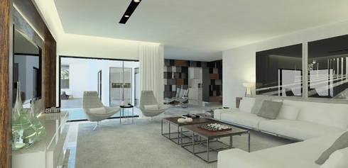 Salas de estar modernas por OGO ARQUITECTOS