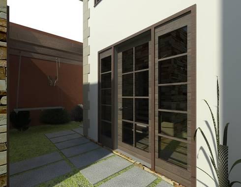 Proyecto de Residencia Campestre en Acero:  de estilo  por Arq. Rodrigo Culebro Sánchez