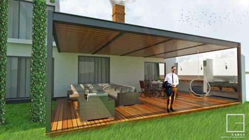 Propuesta de Remodelación:  de estilo  por CABSA Taller de Carpintería & Arquitectura