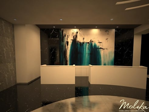 LOBBY ALTIA: Salas de estilo moderno por MOLIKA