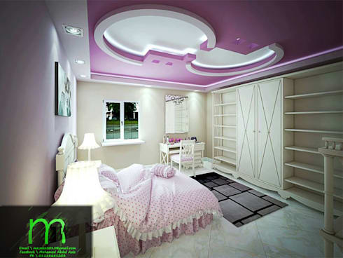 bedroom:  غرفة نوم تنفيذ EL Mazen of Finishes and Trims