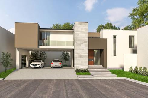 Casa Sta. Anita: Casas de estilo minimalista por Indigo Arquitectos
