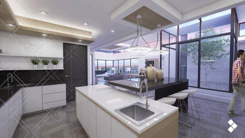 Proyecto CG: Cocinas de estilo moderno por CDR CONSTRUCTORA