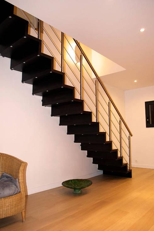 escalier linea avec contremarche par passion bois homify. Black Bedroom Furniture Sets. Home Design Ideas