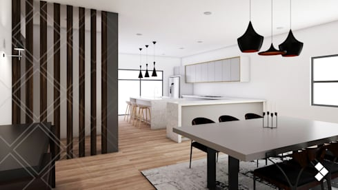 Cocina - Comedor: Comedores de estilo moderno por CDR CONSTRUCTORA