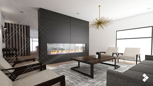 Casa IL: Salas de estilo moderno por CDR CONSTRUCTORA