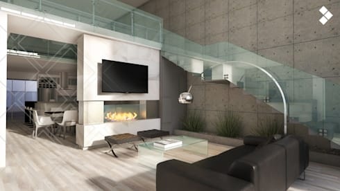 Sala de estar: Salas de estilo moderno por CDR CONSTRUCTORA