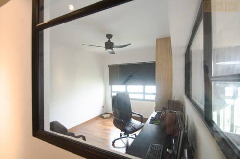 Punggol Waterway Brooks BTO: minimalistic Study/office by Designer House