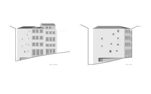 alçados: Casas minimalistas por AR arquitectura