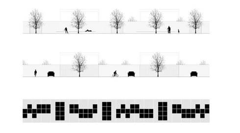 malha urbana: Casas minimalistas por AR arquitectura