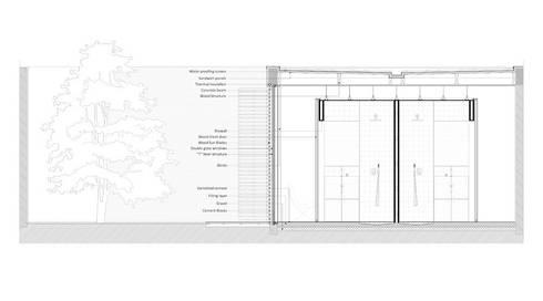 corte construtivo: Paredes  por AR arquitectura