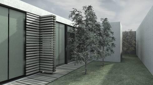 vista exterior: Casas minimalistas por AR arquitectura